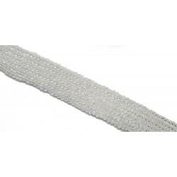 Koraliki szklane fasetowane 4x3mm transparentny sznur