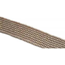 Koraliki szklane fasetowane 4x3mm szaro-beżowy sznur