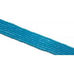 Koraliki szklane fasetowane 4x3mm błękit sznur