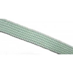 Koraliki szklane fasetowane 4x3mm Jasny seledyn sznur