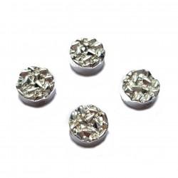 Kaboszon kamień hematyt 8,5x4mm - srebrny