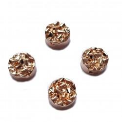 Kaboszon kamień hematyt 8,5x4mm - różowe złoto