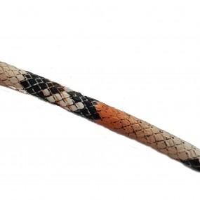 Rzemień szyty 7x6mm wężowa skóra / 1 metr