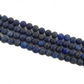 Lapis lazuli 4mm matowy gładki kulka sznur