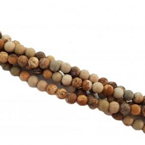 Jaspis krajobrazowy 4mm gładki matowy sznur