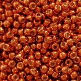 Koraliki TOHO round TR-11-PF562 Permanent Finish-Galvanize Saffron 10g
