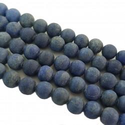 Lapis Lazuli 10mm matowy kulka sznur - niebieski