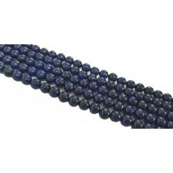 Lapis Lazuli 8mm gładka kulka sznur - niebieski