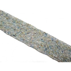 Akwamaryn 2mm fasetowany kulka sznur