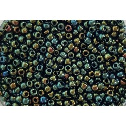 Koraliki TOHO round TR-11-84 Metallic Iris Green/Brown 10g