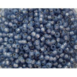 Koraliki TOHO round TR-11-2102 Silver-Lined Milky Montana Blue 10g