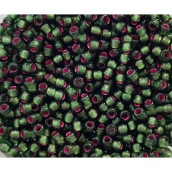 Koraliki TOHO round  TR-11-2204 Dyed Silver-Lined Pink Frosted Olivine 10g