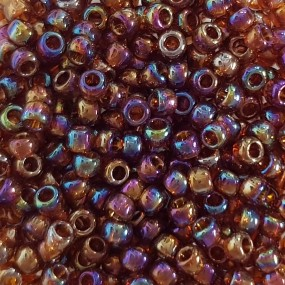 Koraliki TOHO round TR-08-177 Trans-Rainbow Smoky Topaz 10g