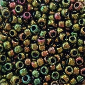 Koraliki TOHO round TR-08-508 Higher-Metallic Iris Olivine 10g