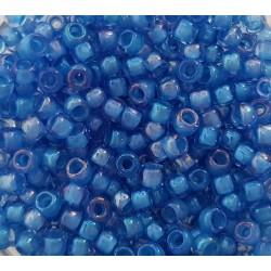 Koraliki TOHO round TR-08-309 Inside-Color Lt Sapphire/Opaque Blue-Lined 10g