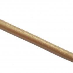 Rzemień szyty gładki 6x4mm skóra syntetyczna - metaliczny jasny złoty