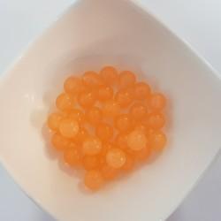 Koraliki plastikowe kulka gładka 10mm - mleczny pomarańczowy
