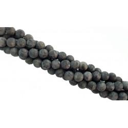 Labradoryt 10mm matowy kulka sznur