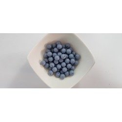 Koraliki plastikowe kulka gładka 10mm - szary