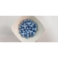 Koraliki plastikowe kulka gładka 10mm - błękitny