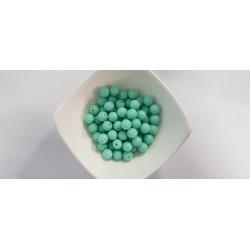 Koraliki plastikowe kulka gładka 10mm - seledynowy