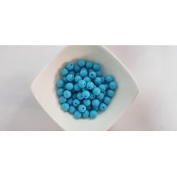 Koraliki plastikowe kulka gładka 10mm - turkusowy