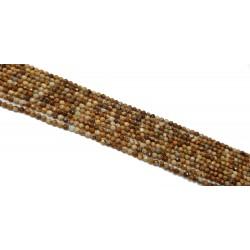 Jaspis Krajobrazowy 3mm - 3,5mm fasetowana kulka sznur