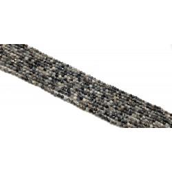 Agat 3mm - 3,5mm fasetowana kulka sznur