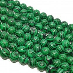 Malachit 10mm sznur głądki kulka - zielony