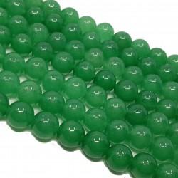 Awenturyn gładka kulka 10mm sznur - zielony