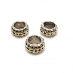 Przekładka ozdobna 8x4mm cyna - srebrny