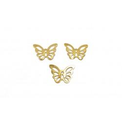 Zawieszka motyl ażurowy 15x10mm stal nierdzewna - złoty