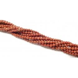 Jaspis 4mm gładka kulka - sznur