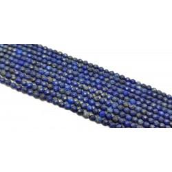 Lapis Lazuli 4mm fasetowana kulka - sznur
