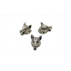 Przekładka wilk 12x11mm stop cyny - antyczne srebro