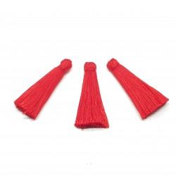 Chwost chwosty 35mm z wiskozy - czerwony