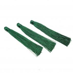 Chwosty / frędzle 120mm z wiskozy - butelkowa zieleń