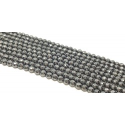 Hematyt 8mm fasetowana kulka sznur - hematytowy