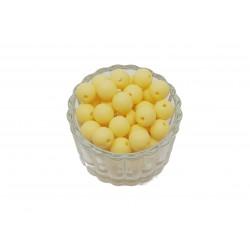 Koraliki plastikowe kulki matowe 10mm - żółty