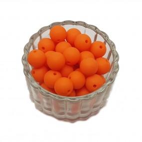 Koraliki plastikowe kulki matowe 10mm - pomarańczowy