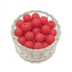Koraliki plastikowe kulki matowe 10mm - czerwony