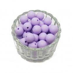 Koraliki plastikowe kulki matowe 10mm - fioletowy