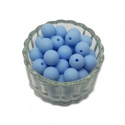 Koraliki plastikowe kulki matowe 10mm - błękitny