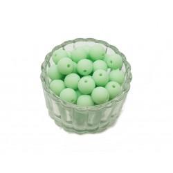 Koraliki plastikowe kulki matowe 10mm - seledynowy