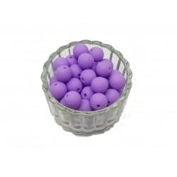 Koraliki plastikowe kulki matowe 10mm - ciemny fiolet