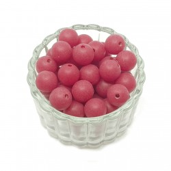 Koraliki plastikowe kulki matowe 10mm - ciemna czerwień