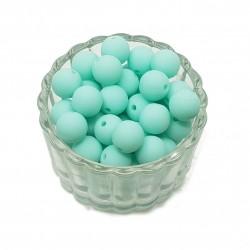 Koraliki plastikowe kulki matowe 10mm - jasna mięta