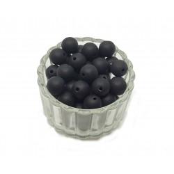 Koraliki plastikowe kulki matowe 10mm - czarny