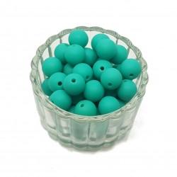 Koraliki plastikowe kulki matowe 10mm - zielony