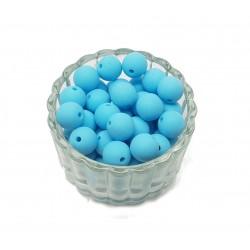 Koraliki plastikowe kulki matowe 10mm - niebieski